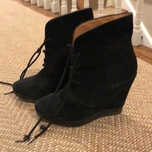 Michael Kors Suede Wedge Boots